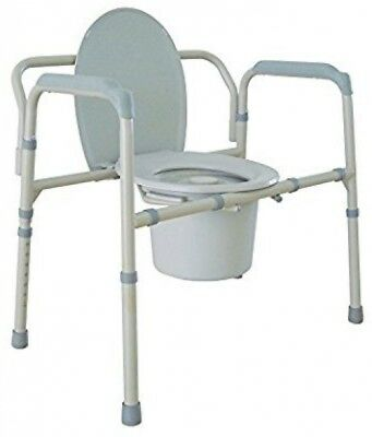 Portable Medical Bedside Commode Toilet Safety Seat Arms, Elderly Chair Durable