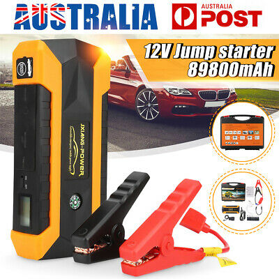 89800mAh Car Jump Starter Power Bank Booster Portable Battery Charger 4 USB 12V