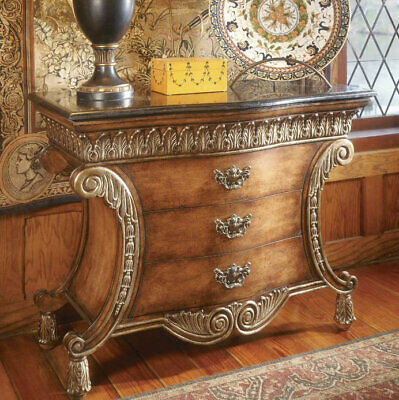 Astoria Grand Durling 3 Drawer Chest with Fossil Stone Top
