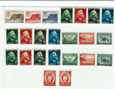 Norway stamps MH & used collection 1943