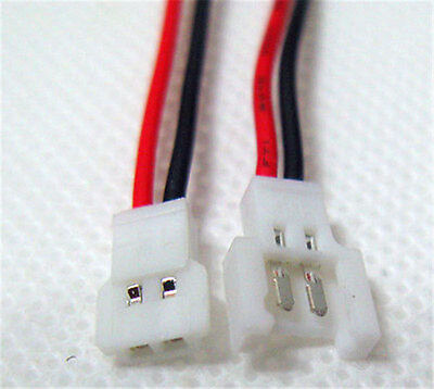 10pairs JST-DS LOSI 2-Pin Connector plug male female with Wire
