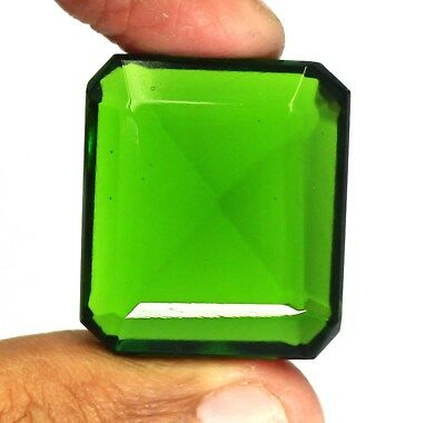 86.10Ct Certified Beautiful Emerald Cut Gorgeous Green Moldavite Gemstone AN1526