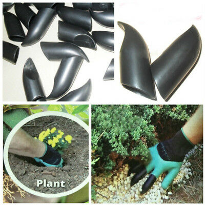 4 ABS Plastic Claws Garden Genie Gloves For Digging Planting LG