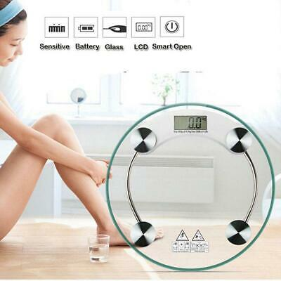 180kgs Bathroom Digital Electronic Glass Weighing Transparent Body Weight Scale