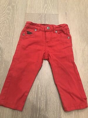 Guess Baby Red Long Pants 12month