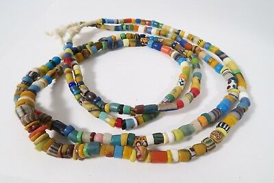 2 Stränge Mix Glasperlen K1 Mix African Trade beads Afrozip