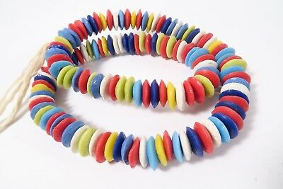 Pulverglasperlen Spacer 14mm C Random Mix Farben Ghana Powder Glass Beads