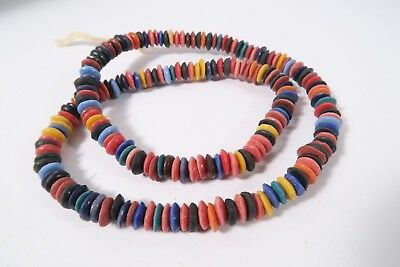 Pulverglasperlen Spacer 9mm D Random Mix Farben Ghana Powder Glass Beads