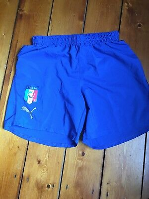 Mens Italy Football Shorts - Medium