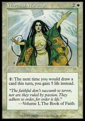 Words of Worship ~ Onslaught ~ Excellent+ ~ Magic The Gathering