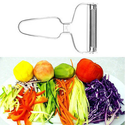 Stainless Steel Vegetable Fruit Slicer Cutter with Cleaning Brush 6A