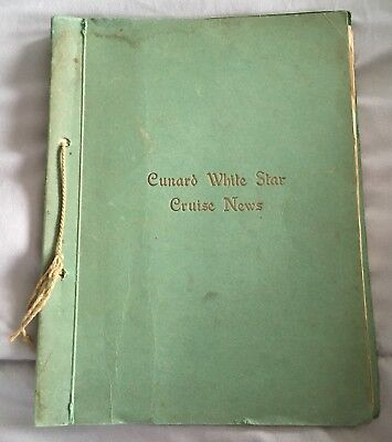 1938 MV GEORGIC Cunard WHITE STAR CRUISE NEWS Booklet 🚢 From NY to W Indies