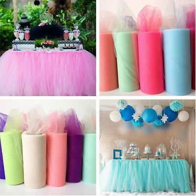 1Pcs Wedding Table Runner Crystal Tulle Organza Yarn Roll Anniversary Decoration