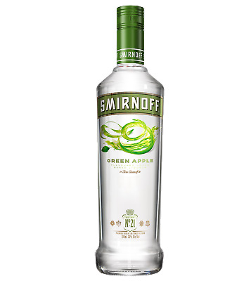 Smirnoff Green Apple Vodka 700mL bottle