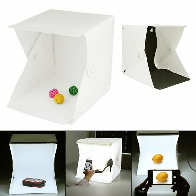 Portable LED Light Room Photo Studio Photography Lighting Tent Backdrop Box 25CM