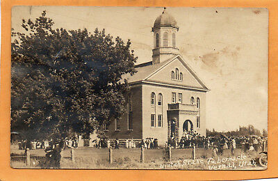 Vernal Utah Unitah State Tabernacle 1924 Real Photo Postcard