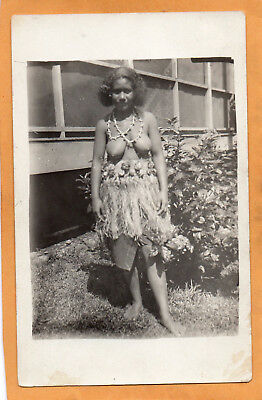 Hawaii Natives 1910 Real Photo Postcard