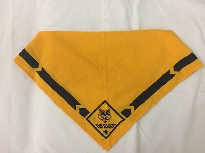 Official BSA Cub Scouts WOLF Yellow Uniform Neckerchief Scarf