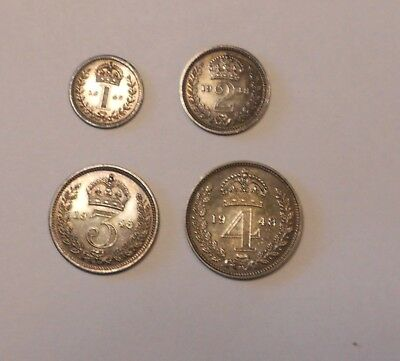 GREAT BRITAIN. Maundy Set, 1948 - From a mintage of only 1,385 pieces