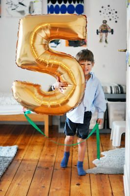 """40"""" inch Giant Numbers Foil Balloons Self Inflating Helium/Air Birthday Baloons"""