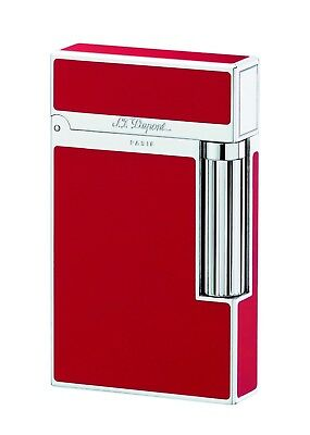 S.T. Dupont Ligne 2 Deep Red Lacquer and Palladium Lighter 016396