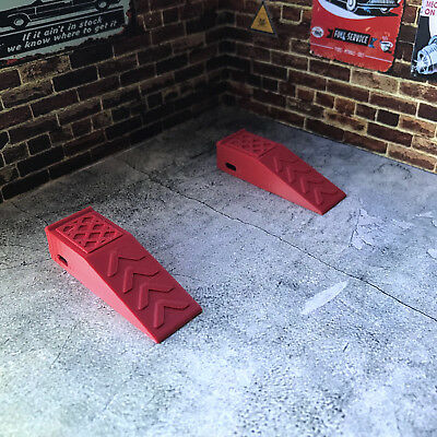 2 x Ramps / Stands for Diorama Garage / Workshop 1:18 scale Car or RC Model