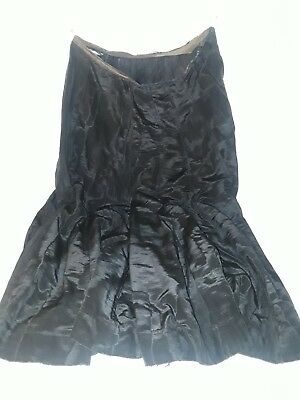Antique skirt mid 19th century woman's clothing black cotton