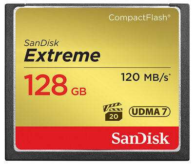 SanDisk 128GB Extreme Compact Flash (CF) Memory Card 120MB/s