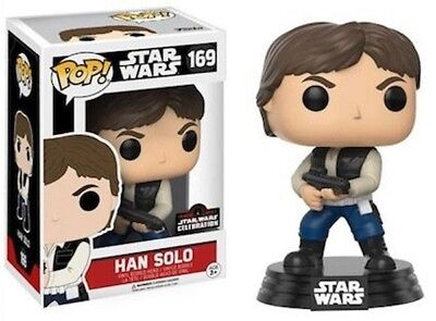 Funko Pop! STAR WARS A New Hope # 169 Han Solo 2017 Celebration Exclusive NEW