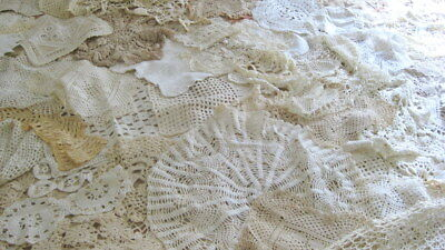 Vintage Lot of 70 Hand Crocheted Doilies