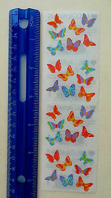 Mrs Grossman BITSY BUTTERFLIES - Strip of Tiny Butterfly Stickers DISCONTINUED