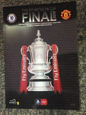 Chelsea V Manchester United, 2018 FA Cup Final Programme
