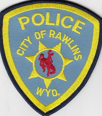 Rawlins Police Shoulder Patch Wyoming Wy