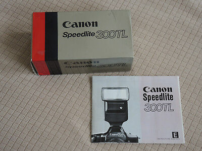 Canon Speedlite 300TL Shoe Mount Flash for  Canon, Box, Case and Manual