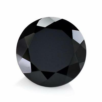 1 Pcs Natural Black Onyx Round Faceted Cut Loose Gemstone Size 15x15 MM RN-60
