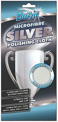 Duzzit Microfibre Silver Metal Gold Steel Brass Polishing Cloth Clean Soft Shine