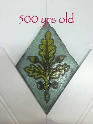 ENGLISH ANTIQUE STAINED GLASS WINDOW CHURCH QUARRY. Medieval, choose any one.