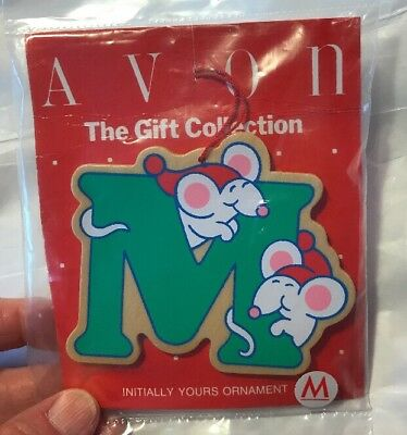 "Vintage Avon ""Initially Yours"" Ornament, The Gift Collection: Letter M"
