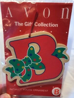 "Vintage Avon ""Initially Yours"" Ornament, The Gift Collection: Letter B"