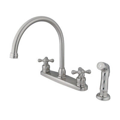 Kingston Brass Vintage Double Handle Kitchen Faucet with Side Spray