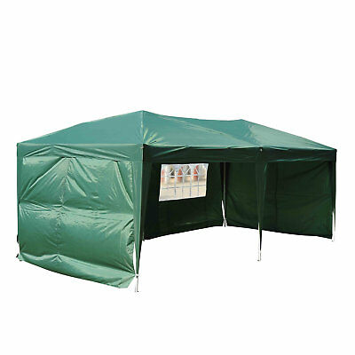 Outsunny 10 Ft. W x 20 Ft. D Steel Pop Up Canopy