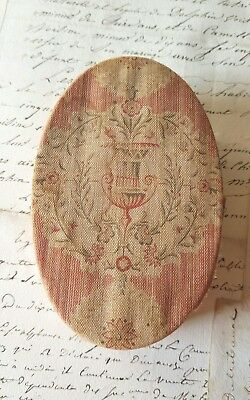 Antique French Fabric Chocolate Box