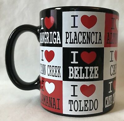 Belize Souvenir Plate Coffee Mug