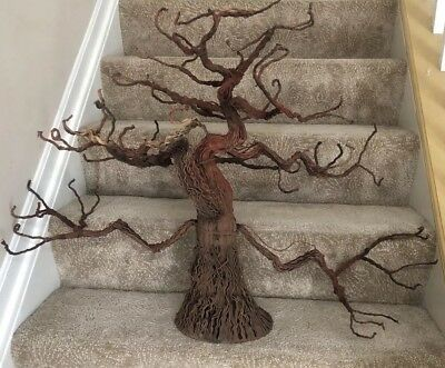REDUCED! Large Wire Flexible Halloween Brown Decorative Scary Tree: Great Shape!