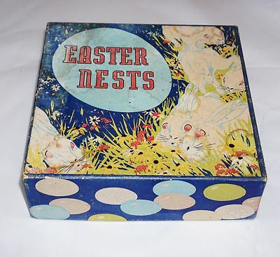 Vintage Easter Nest With Egg's In Original Box