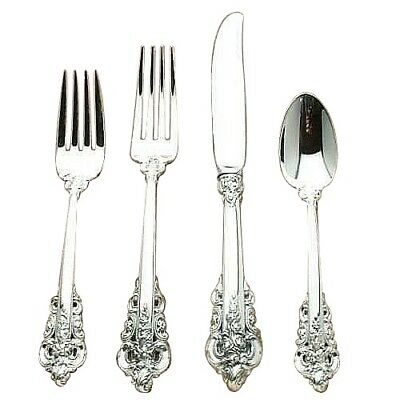 Grande Baroque by Wallace Sterling Silver individual 4 Piece Place Setting