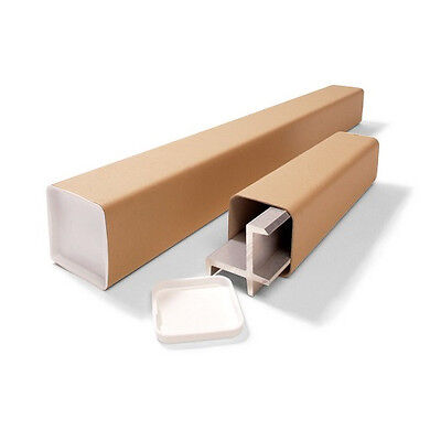 10 x Square Cardboard Postal Tubes - Choice of Sizes Available