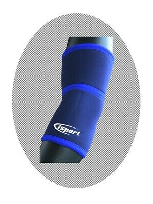 iSport Blue Neoprene Elbow Adjustable Support Brace Strap - 4 Sizes