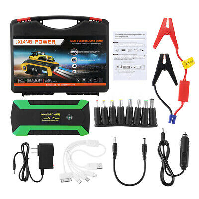4 USB 89800mAh 600A LED Car Jump Starter Pack Booster Charger Battery Power Bank