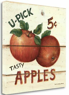 Tangletown Fine Art 'U-Pick Apples' Vintage Advertisement on Wrapped Canvas